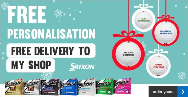 Free Personalisation on Srixons, from £17.99